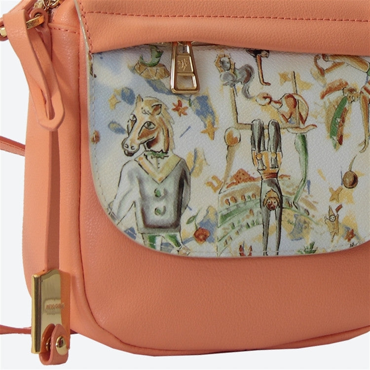 Piero Guidi Magic Circus Cherie Leather - 7 x 8 x 3 in. Apricot Messenger