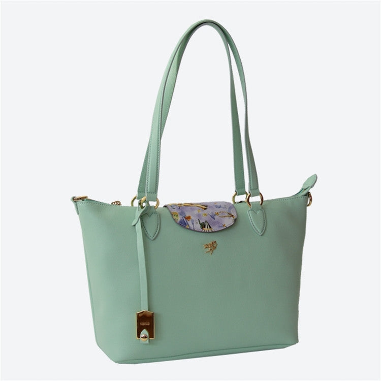 Piero Guidi Magic Circus Cherie Leather- 12 x 9 x5 in. Aqua Green Tote