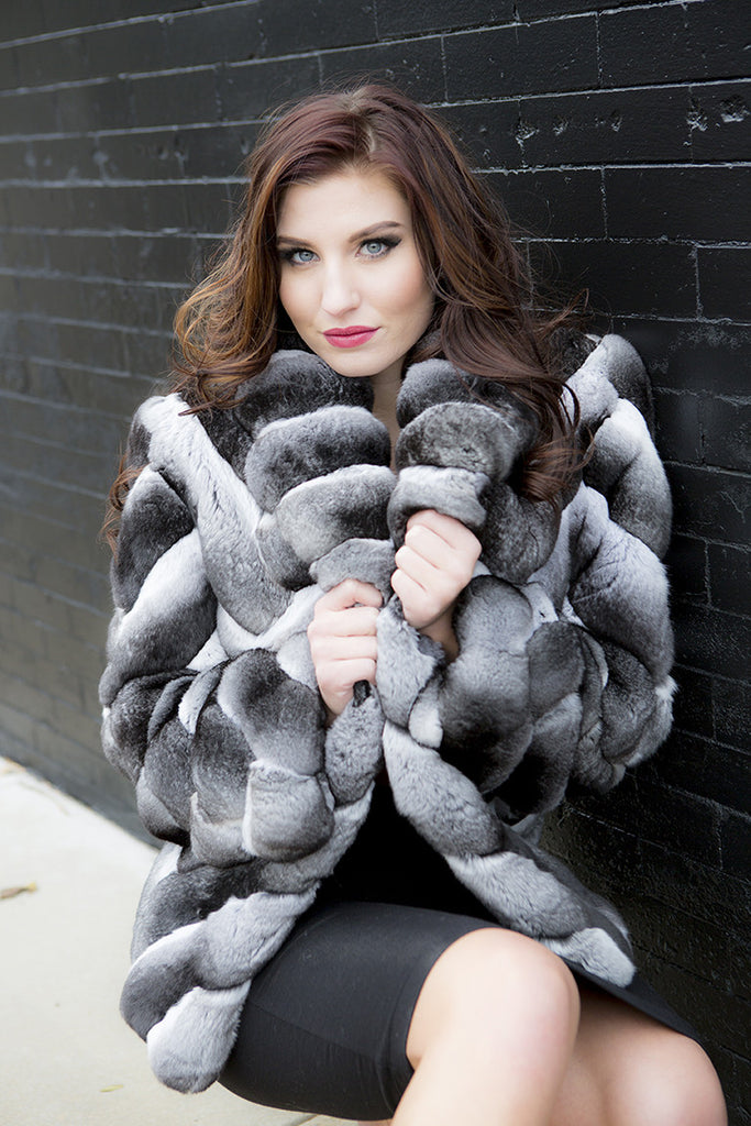 Natural Chinchilla Fur Jacket