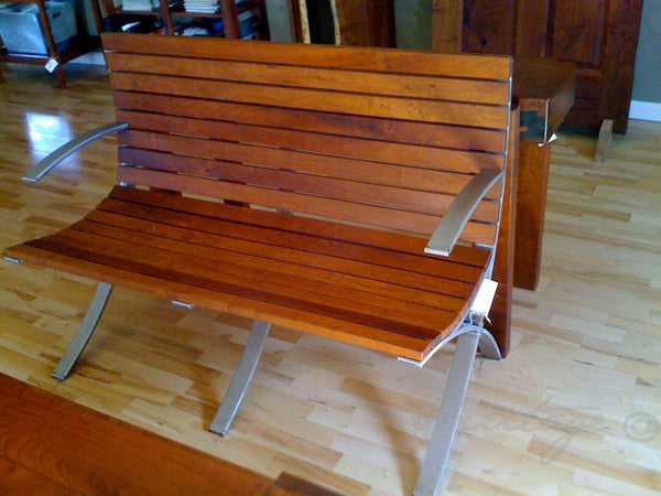 Heritage Mesquite and Stainless Steel Bench