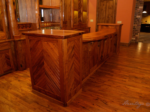 Heritage Rustic Mesquite Bar Front