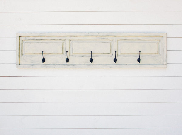 Reclaimed Raised Panel Coat Rack