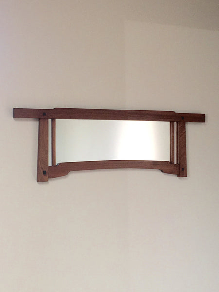 Small Sapele Mahogany Greene and Greene style mirror