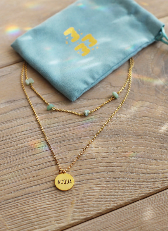 Gold Amazonite Layered Necklace