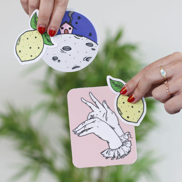 Stick-On Patch - Choose from the Lemon, Hands or Moon!