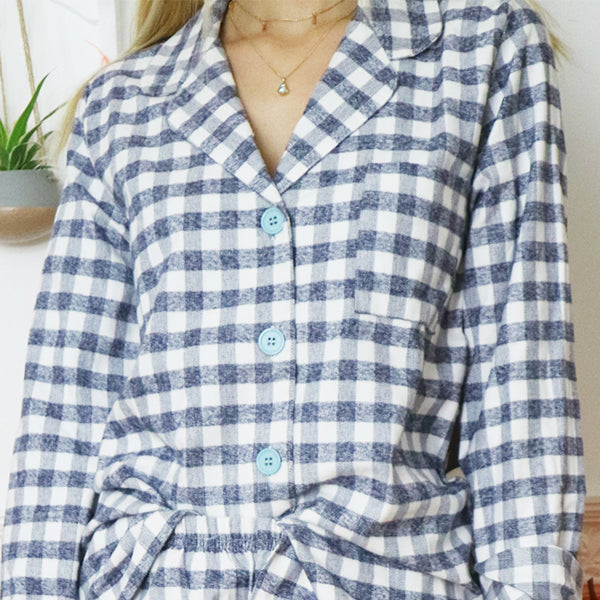 Checkered Flannel PJ Top