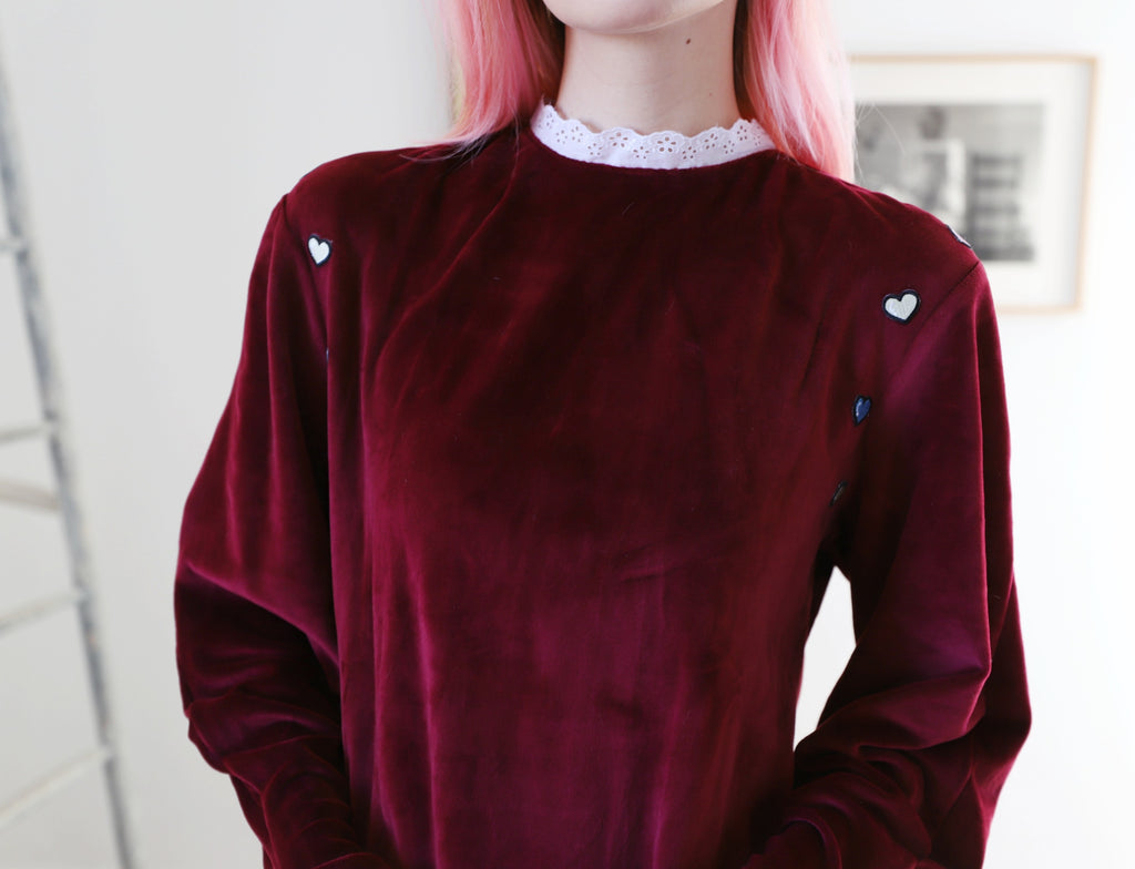Plush Velour Sweater Dress