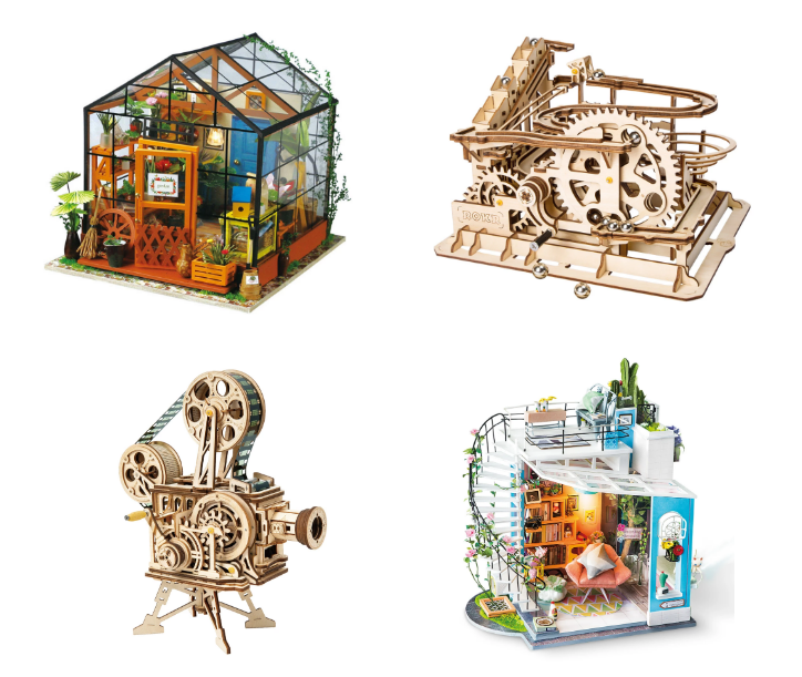 New marble machines and construction kits!