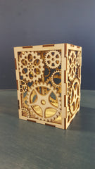 Laser cut tea light candle holder