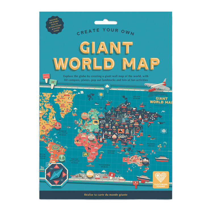 Create Your Own Giant World Map - MAD Factory
