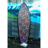 THE TWIN - Skull fabric inlay by Alexander Henry - Skindog Surfboards