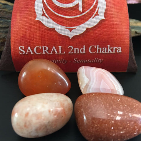 CHAKRA KIT Crystal Balancing Set - 2nd SACRAL - Crystal Rock Emporium