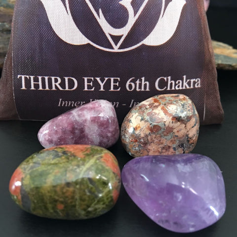 CHAKRA KIT Crystal Balancing Set - 6th THIRD EYE - Crystal Rock Emporium