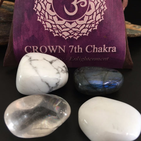 CHAKRA KIT Crystal Balancing Set - 7th CROWN - Crystal Rock Emporium