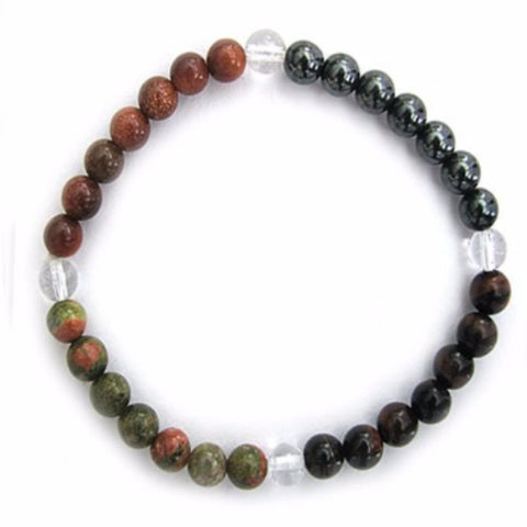 Gemstone ENERGY BRACELET Crystal Healing - GROUNDING - Crystal Rock Emporium