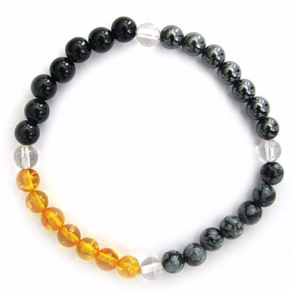 Gemstone ENERGY BRACELET Crystal Healing - NEGATIVE ENERGY - Crystal Rock Emporium
