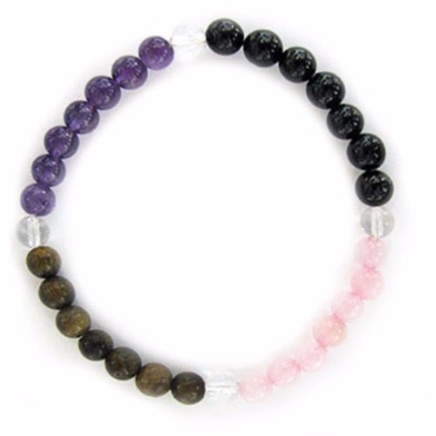 Gemstone ENERGY BRACELET Crystal Healing - PSYCHIC ATTACK - Crystal Rock Emporium