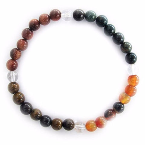 Gemstone ENERGY BRACELET Crystal Healing - STRENGTH - Crystal Rock Emporium