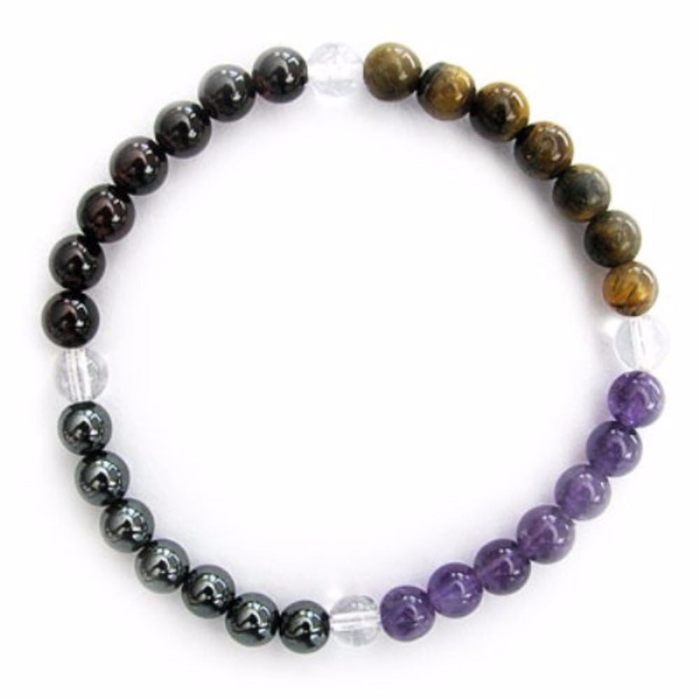 Gemstone ENERGY BRACELET Crystal Healing - TRAVEL SAFETY - Crystal Rock Emporium