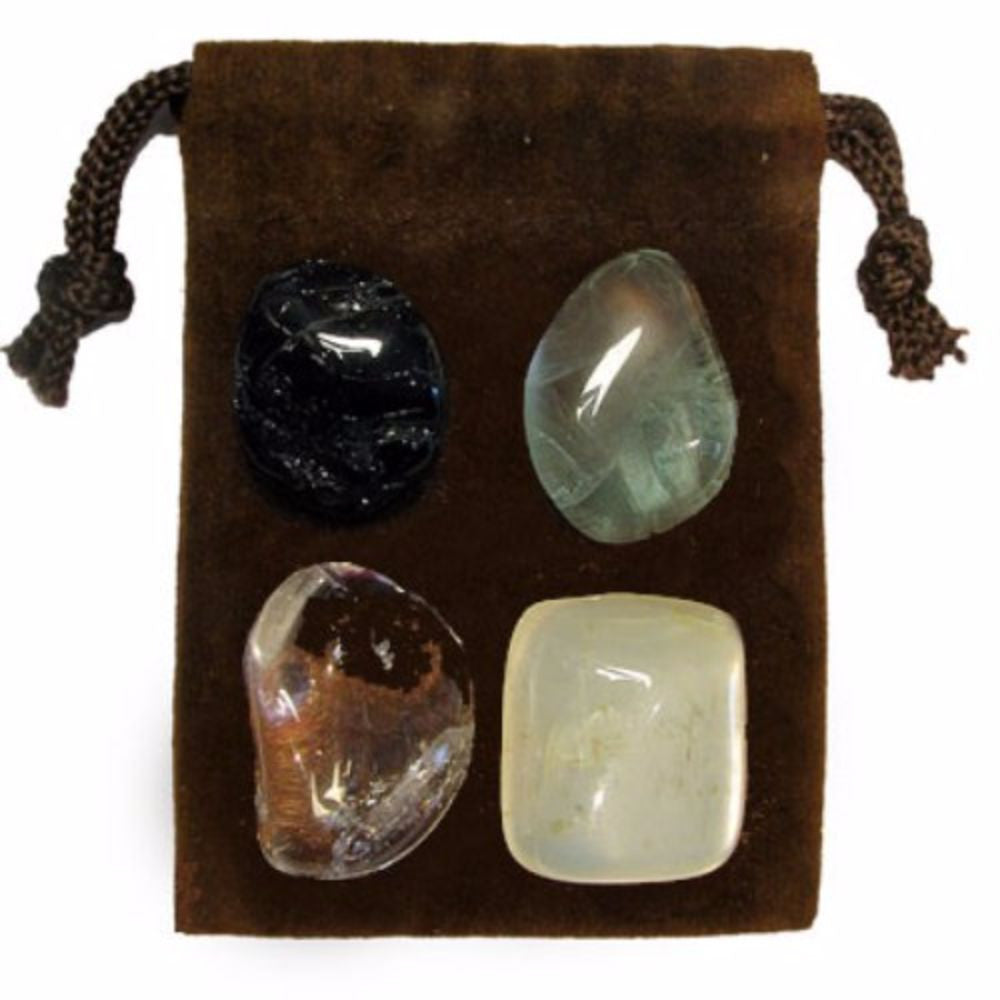 ENERGY KIT Crystal Healing Set - AURA CLEANSING - Crystal Rock Emporium
