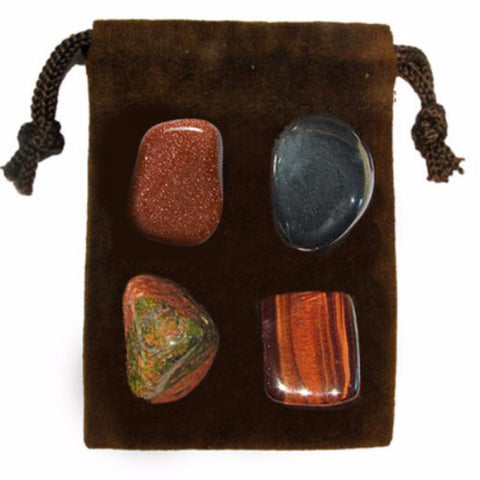 ENERGY KIT Crystal Healing Set - GROUNDING - Crystal Rock Emporium