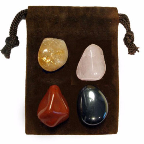 ENERGY KIT Crystal Healing Set - HAPPINESS - Crystal Rock Emporium