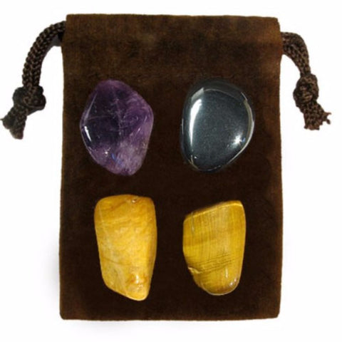 ENERGY KIT Crystal Healing Set - TRAVELLING SAFETY - Crystal Rock Emporium