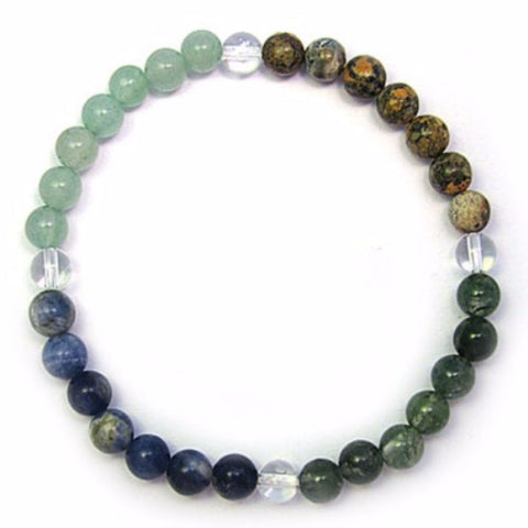 Gemstone ZODIAC BRACELET Crystal Healing - CANCER - Crystal Rock Emporium