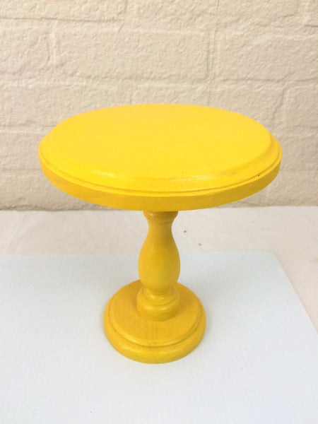 Yellow Cupcake Smash Cake Stand Display Pedestal