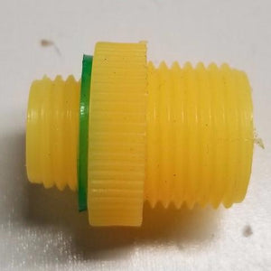NEW!! YELLOW MALE-MALE ADAPTER FOR PISTOL HANDLE AND ACID WAND (2 FOR $.99)