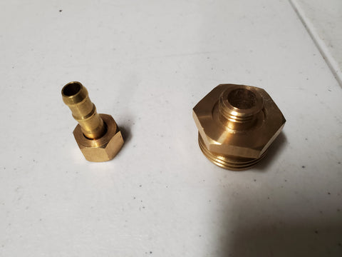 3/4 Garden Hose Male to 1/4 Brass Barb Adapter