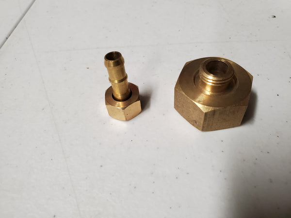 3/4 Garden Hose Female to 1/4 Brass Barb Adapter