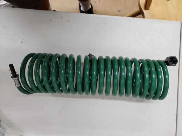 Super Compact Coiled Green Hose (air hose style) $13.99