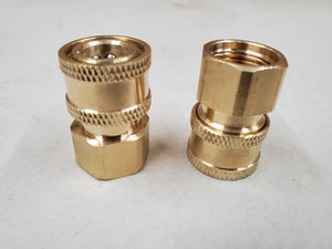 "Quick Connect Female 1/4"" to Female M18x1.5 Brass"