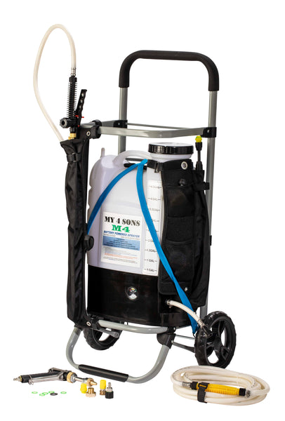M4 PLATINUM $284.99 (SAME DAY FREE SHIPPING)  #1 RATED M4 + 15 FOOT HOSE, SPRAY PISTOL, POWDER COATED HD STEEL CART