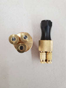 New 20 micron triple brass cone disinfection nozzle