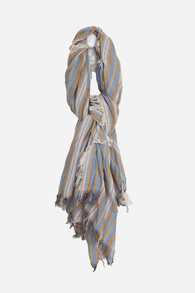 Wool 6 Colored Stripe Scarf Palace