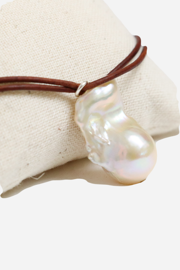 18K GP SS 16'' Freshwater Pearl Necklace