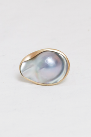 Mabe Pearl Ring with 14k Bezel