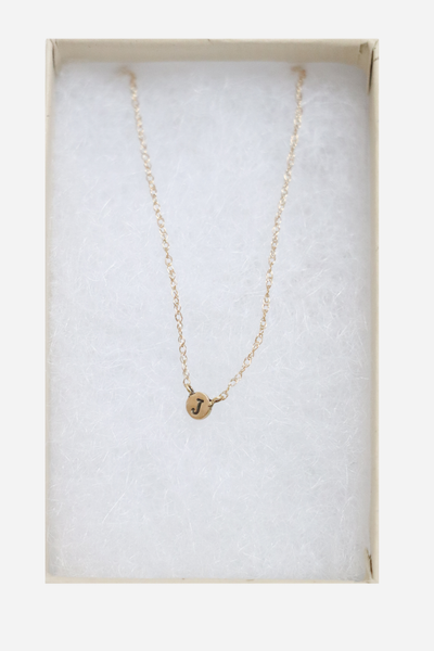 14K Tiny J Necklace