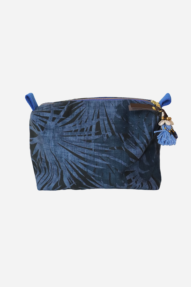 Palm Cosmetic Bag Indigo