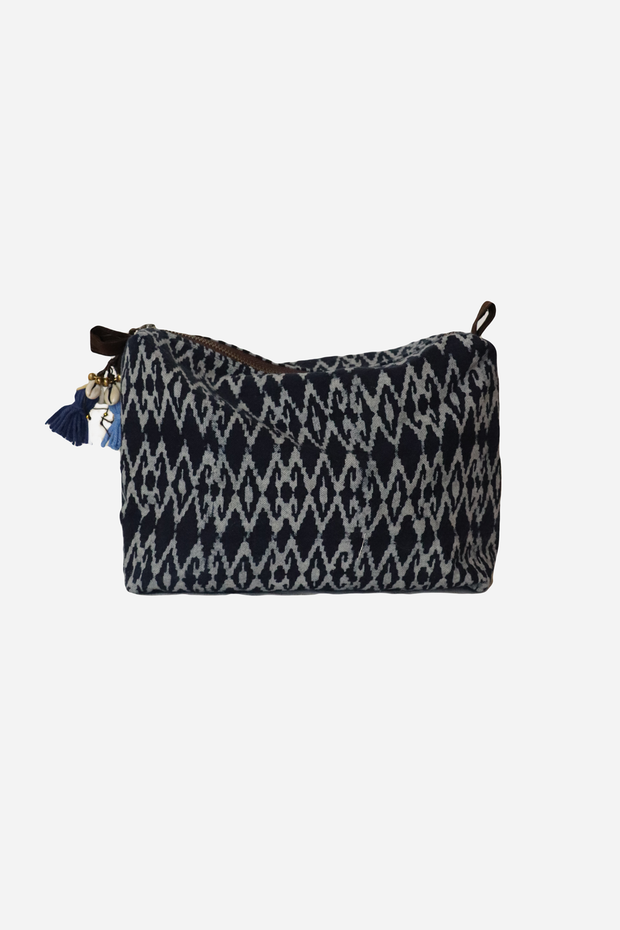 Batik Cosmetic Bag Indigo