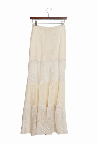 Tesouro Calypso Maxi Skirt Natural