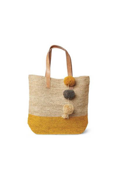 Montauk Crocheted Colorblock Tote