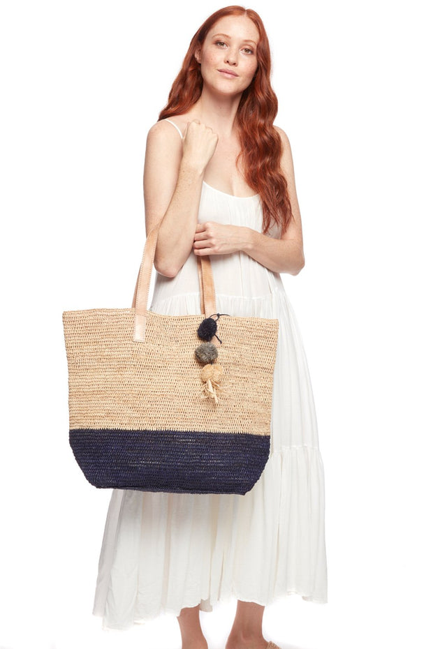 Montauk Crocheted Color Block Tote