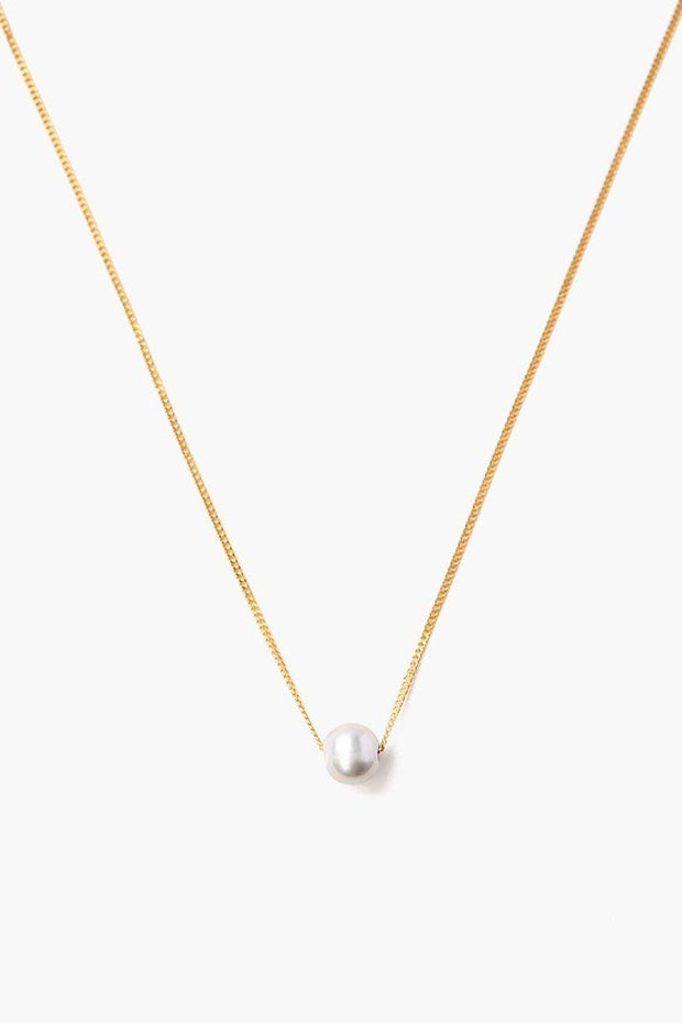 18k Gold Plated Necklace with Fresh Water Pearl