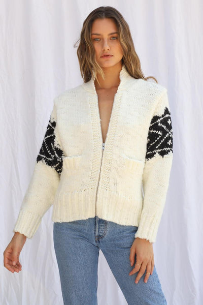 Beach Bonfire Zip Cardigan