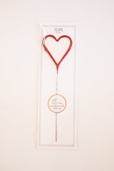 Big Red Heart Sparkler Wand