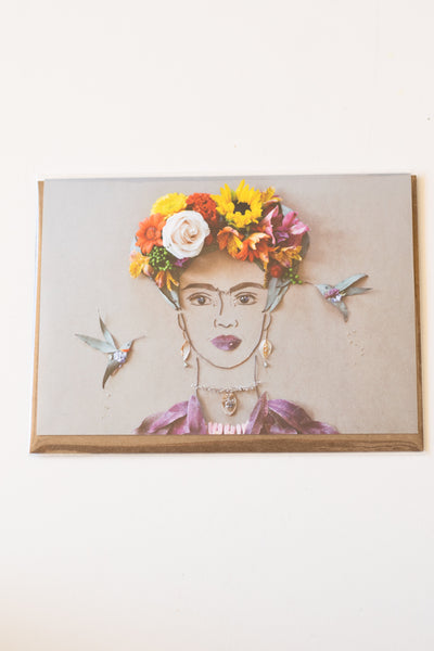 Frida in the Garden Greeting Card