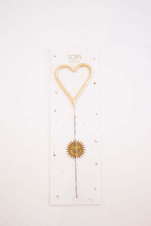 Big Golden Heart Sparkler Wand